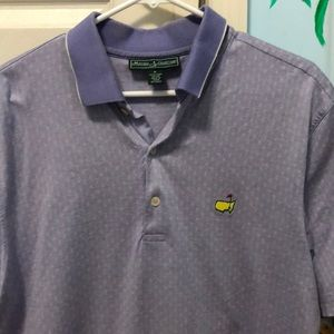 Large Purple Pattern Masters Polo